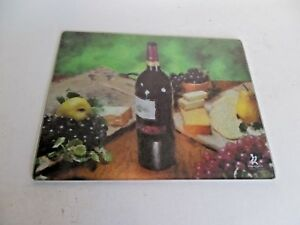 Gourmet Traditions Tempered Glass Cutting Board Wine Cheese 15