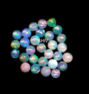 100% NATURAL WELO ETHIOPIAN FIRE OPAL ROUND CABOCHON 3X3MM LOOSE GEMSTONE