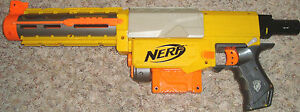 NERF N STRIKE RECON  CS-6 LAZER PUMP RIFLE WITH CLIP HASBRO TESTED, WORKS GREAT