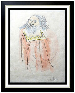Salvador Dali Etching Original Authentic HAND SIGNED Jeremiah Surrealism Artwork $2295.00