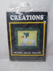 *NEW* Creations Momma Duck Pillow Sewing Kit Vintage NOS #3066 B55 .64 $29.99