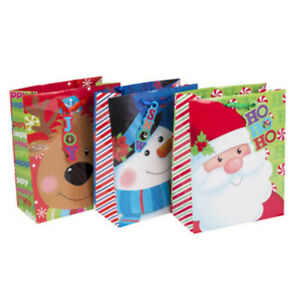 Large Christmas Gift Bag - 6 Designs - CASE OF 48