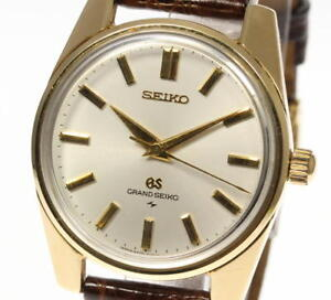 SEIKO GRAND SEIKO Cap Gold 4420-9990 Hand winding Men's watch_398141