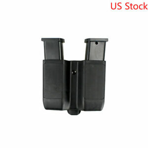 Double Magazine Pouch Pistol Mag Case Cartridge Clip Holder For 9mm to .45 cal