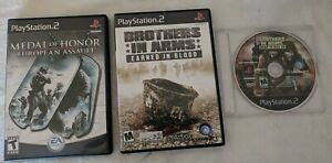 PS2 Lot Brothers In Arms Earned Blood amp; Hill 30 Medal of Honor European Assault