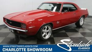 1969 Camaro RSSS Restomod Tribute classic vintage chrome chevy hideaway light red black American Racing Auto Meter