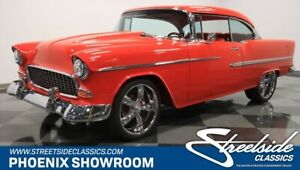 1955 Bel Air150210 -- Chevy Red Custom Restomod V8 Auto Classic Vintage Collector Bel-Air 210 Stroker