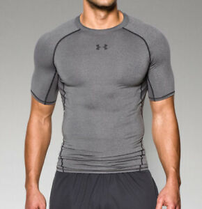 Under Armour Men's HeatGear Armour Short Sleeve Compression Shirt 1257468 Carbon $24.90