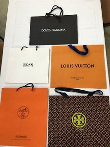 FIVE Large Very High End Designer Store Paper Shopping Gift Bags NEW