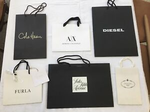 Designer Store Paper ShoppingGift Bags SIX (6)  NEW