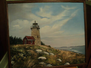 Lighthouse: Oil on Canvas: William Trotter $295.00