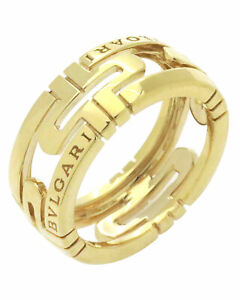 Bvlgari Parentesi 18k Yellow Gold Band Ring Size 5.5. BG0422 341904