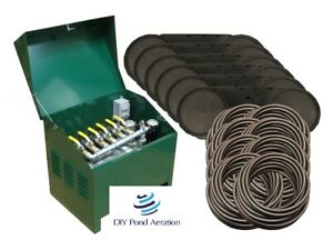 NEW 1HP Large Lake Aeration System 5+ Acres 800' Sink Tube 6 Diffusers wCabinet