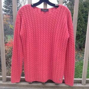 Loro Piana BABY CASHMERE Women Cable Knit Jumper Sweater Pullover EU 44