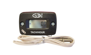 T Tech 742-A00 Black Surface Mount TTO Digital Tachometer Plus Hour Meter