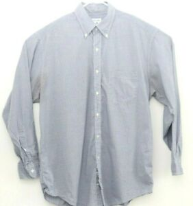 Brooks Brothers Mens LS Sport Shirt Sz M BLUE CHECKERED Button-down