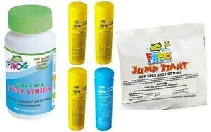 2 3 DAY SHIPPING Spa Frog Kit 4 pack 3 Bromine 1 Mineral Test Strips Jump Start