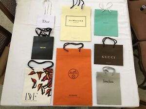 EIGHT (8) Designer Paper Shopping  Gift Bags  NEW