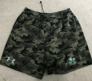 USED UNDER ARMOUR LOOSE TEAM ISSUED LOOSE NOTRE DAME FOOTBALL SHORTS XL