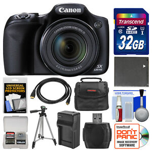 Canon Sure Shot Sx530 Digital Camera HS Wi-Fi 32GB Fully Complete Kit EZ Carry