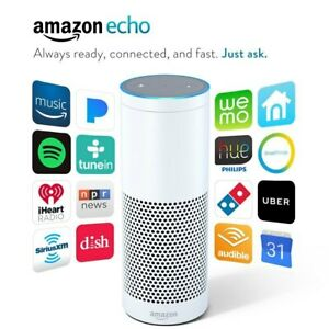 Amazon Echo Bluetooth WiFi Smart Speaker with Alexa 1st Generation - White