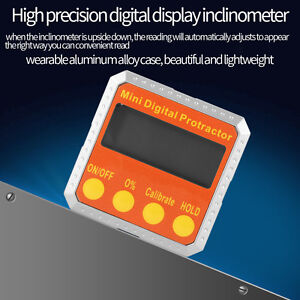 360° Magnetic Digital LCD Inclinometer Level Box Gauge Angle Meter Protractor $24.71
