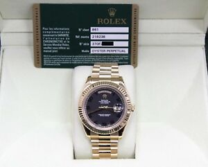 Rolex President Day Date II 41MM 218238 18K Yellow Gold Box and Papers Open Card