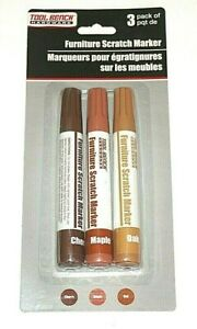 Tool Bench Furniture Scratch Marker Pack of 3 (Cherry, Maple, Oak)