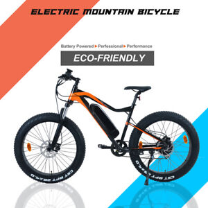 48V 500W Electric Fat Tire Bicycle Mountain Snow Beach City E Bike 8 Speed Moped