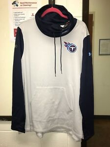 Under Armour Combine Authentic Titans Wm S M L 2XL French Terry Cowl Neck Shirt
