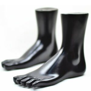 Foot Toes Mannequin Display Stocking Sock shoes simulation Mold Plastic black