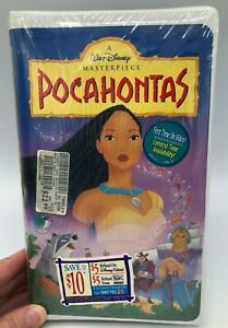 (Rare) Factory Sealed Pocahontas (VHS 1996) Masterpiece Collection MINT