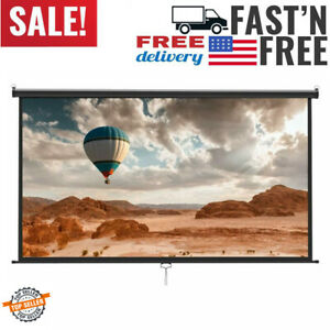 Projection Screens Manual Projector Pull Down - 100 Inch 169 HD Movie Home With