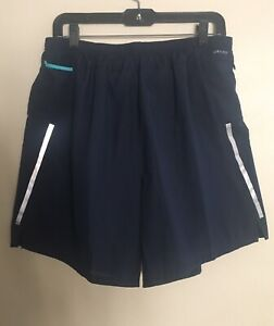 Nike Mens Running Shorts Size XLarge Inner Lining Color Navy Blue