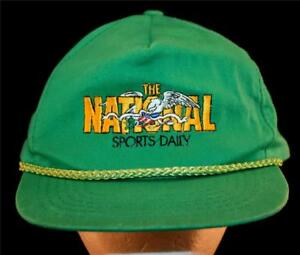 MEN'S Vintage The National Sports Daily Tabloid Newpaper 1990's Employee Hat Cap