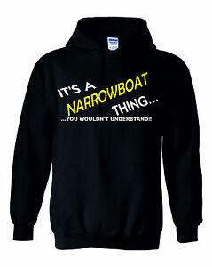 ITS A NAME THING ITS A NARROW BOAT THING HOODIE PERSONALISED FISHING FOOTBALL