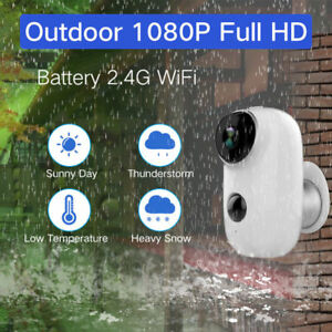 1080P HD Wireless WiFi IP Camera Audio Battery Operated Bullet Security Camera
