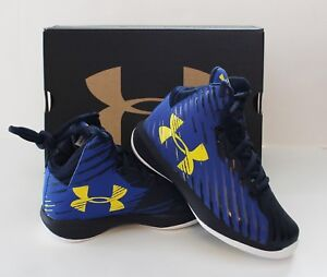 Under Armour Boys UA Jet Mid Express Basketball Shoes Blue 1301866-400 11 or 12