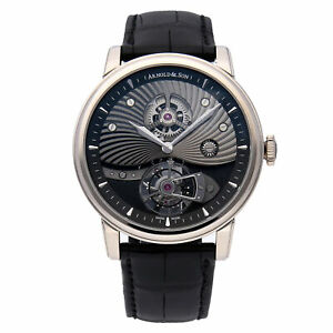 Arnold & Son TE8 Limited Edition Gold Manual Strap Mens Watch 1SJAW.B02A.C113W