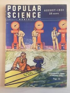 Popular Science August 1931- Flat Earth