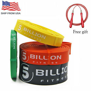 Pull Up Assist Bands Resistance Bands Set with Jump rope for Body Fitness