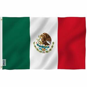 New 3'x5' Polyester MEXICO FLAG Mexican Country Outdoor Banner Grommets