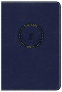 CSB Military Bible Royal Blue Leathertouch by Csb Bibles by Holman: Used
