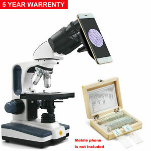 SWIFT 40X-2500X Pro Trinocular Microscope Researcher Lab Science Student Biology