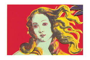 ANDY WARHOL Birth of Venus Red 27.5quot; x 39.5quot; Poster 2000 Pop Art Red Yellow $60.00