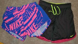 Nike Girl's Running Athletic Shorts (Lot Of 2) Size M Youth GUC