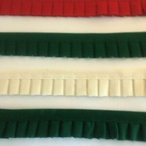 BOX PLEAT GATHERED TRIM FABRIC RIBBON WITH ATTACHED BIAS TAPE TOP 4 1 2 YARDS $9.99