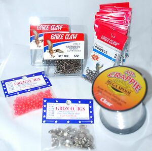 CRAPPIE RIG KIT (BUILD 100 CAPPS & COLEMAN STYLE RIGS) CRAPPIE POLE