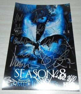 Game Of Thrones Cast Signed Autographed 8X12 Photograph Kit Harington Peter Dink