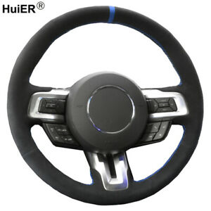 Hand Sewing Steering Wheel Cover For Ford Mustang 2015 2016 2017 2018 2019 Now $45.50
